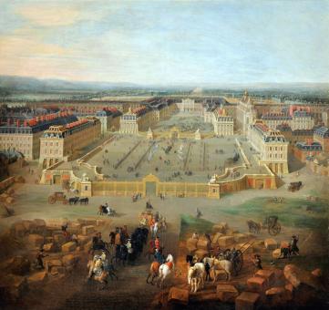 Le château de Versailles peint par Martin