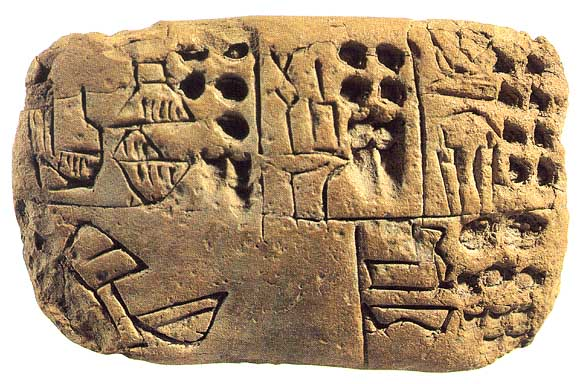 PremiersEtats, premières écritures Uruk Tablette