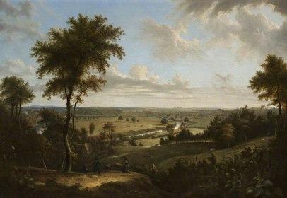 Manchester Vista desde Kersal Moor Salford (1820)